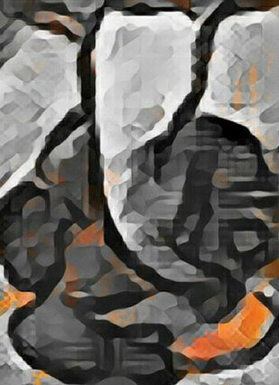 Shree Ganesh by A S Pithadia, Decorative Digital Art, Digital Print on Canvas, Gray color