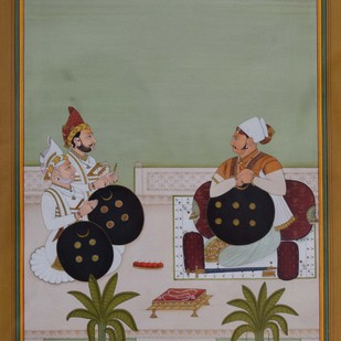 Miniature by Unknown Artist, Traditional Painting, Watercolor on Paper, Brown color