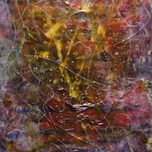 Brownian motion by Viraag Desai, Abstract Painting, Mixed Media on Canvas, Brown color
