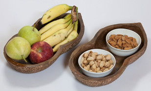 Groundnut Platter Platter and Plate By THE ART SPA