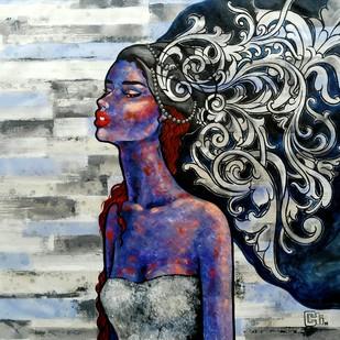 The thinker by Suruchi Jamkar, Pop Art Painting, Acrylic on Canvas, Gray color