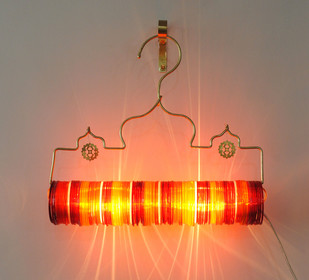 Thief of Baghdad Choori Lamp: Red Festive Wall Decor By Sahil & Sarthak