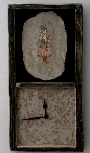 miniature painting clock Clock By Aranya Earthcraft