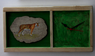 time for nature love Clock By Aranya Earthcraft
