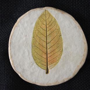 guava leaf tea coaster Serveware By Aranya Earthcraft