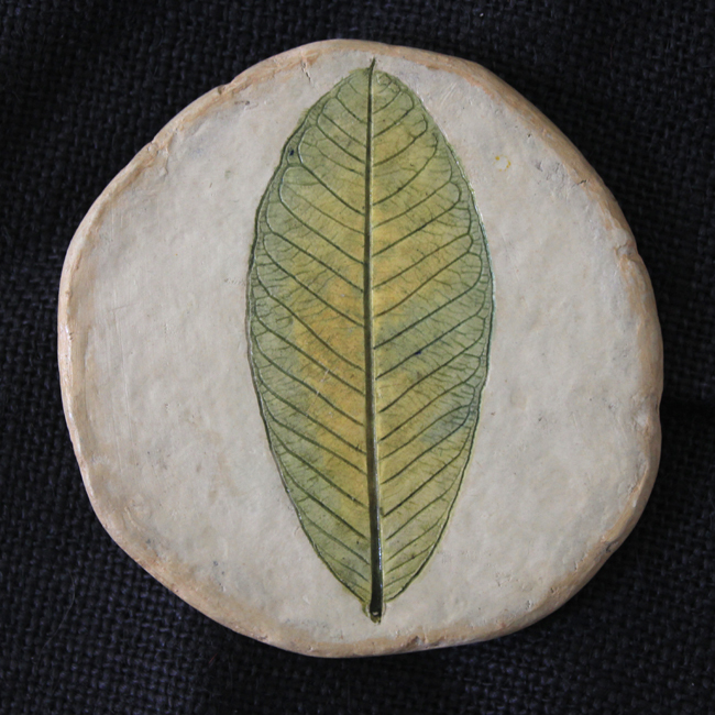 guava leaf tea coaster Serveware By Aranya Earthcraft