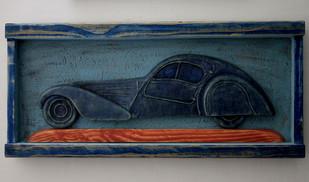 vintage car by Aranya Earthcraft, Contemporary Wall Decor, Paper, Blue color