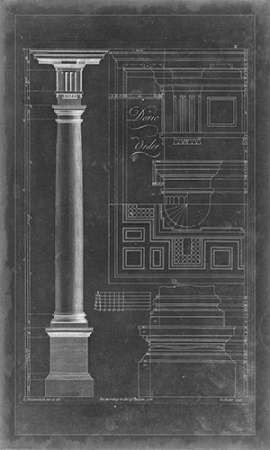 Doric Order Blueprint Digital Print by Chippendale, Thomas,Decorative