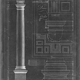Doric Order Blueprint Digital Print by Chippendale, Thomas,Decorative