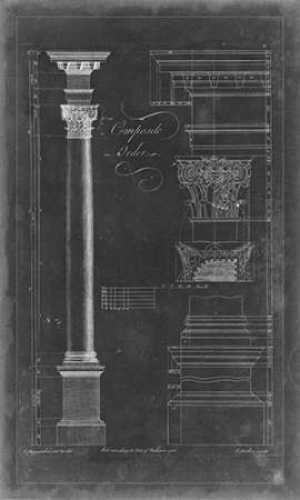 Composite Order Blueprint Digital Print by Chippendale, Thomas,Decorative