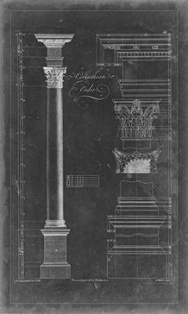 Corinthian Order Blueprint Digital Print by Chippendale, Thomas,Decorative