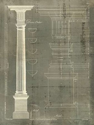 Column Blueprint IV Digital Print by Sheraton, Thomas,Decorative
