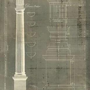 Column Blueprint IV Digital Print by Sheraton, Thomas,Decorative