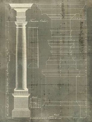 Column Blueprint III Digital Print by Sheraton, Thomas,Decorative