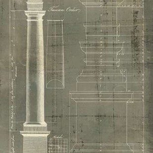 Column Blueprint III Digital Print by Sheraton, Thomas,Decorative