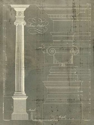 Column Blueprint II Digital Print by Sheraton, Thomas,Decorative
