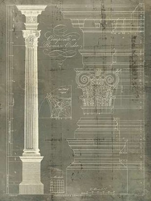 Column Blueprint I Digital Print by Sheraton, Thomas,Decorative