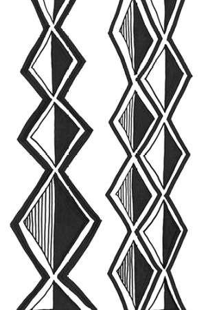 Mud Cloth Study II Digital Print by Stramel, Renee W.,Folk