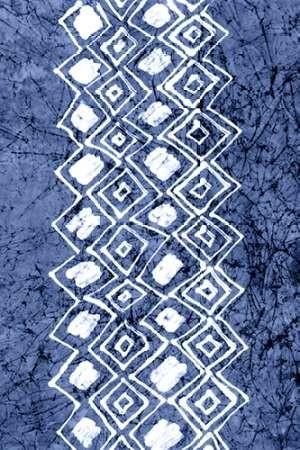 Indigo Primitive Patterns IV Digital Print by Stramel, Renee W.,Decorative