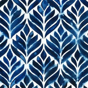 Cobalt Watercolor Tiles IV Digital Print by Popp, Grace,Decorative