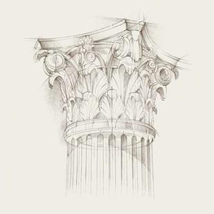 Column Schematic IV Digital Print by Harper, Ethan,Illustration