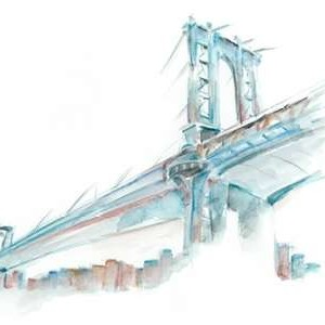 Watercolor Bridge Sketch I Digital Print by Harper, Ethan,Decorative