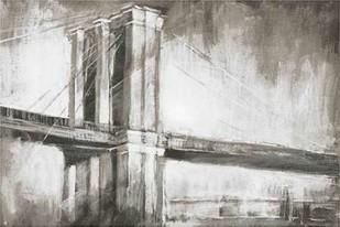 Historic Suspension Bridge II Digital Print by Harper, Ethan,Illustration