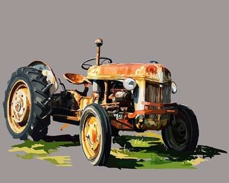 Vintage Tractor II Digital Print by Kalina, Emily,Decorative