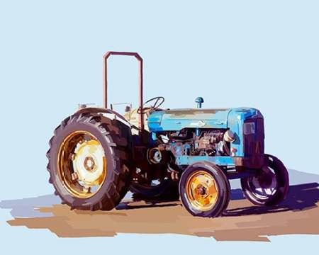 Vintage Tractor I Digital Print by Kalina, Emily,Decorative