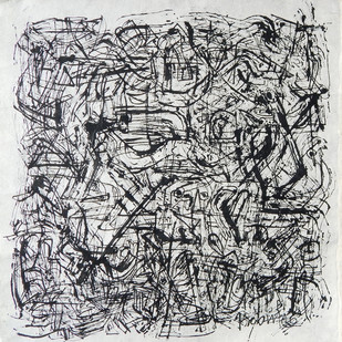 Drawing by Prabin Kumar Nath, Abstract Drawing, Mixed Media, Gray color