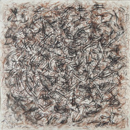 Drawing III by Prabin Kumar Nath, Abstract Drawing, Mixed Media on Paper, Brown color