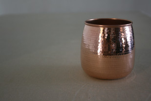 Convex Tumbler by Studio Coppre, Contemporary Table Ware, Copper, Gray color