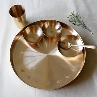 Tulsi Kansa Platter Serveware By Studio Coppre