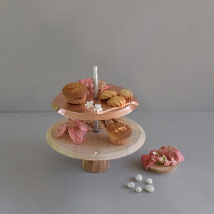 Two-tiered Dessert Stand Serveware By Studio Coppre
