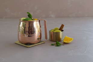 Stout Mule Mug by , Contemporary Table Ware, Copper, Brown color