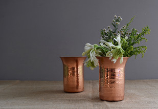 Tulipa Vase by Studio Coppre, Contemporary Decorative Vase, Copper, Gray color