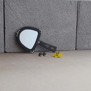 Bejewel Hand Mirror - Arch Looking Mirror By Studio Coppre