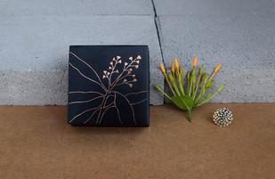 Bidri Miniature Box - Aam Decorative Box By Studio Coppre