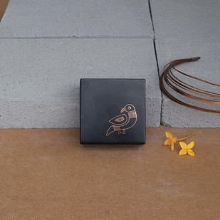 Bidri Miniature Box - Tota Decorative Box By Studio Coppre