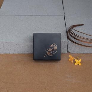 Bidri Miniature Box - Tota Decorative Box By Studio Coppre
