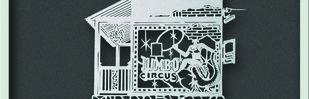 jumbo circus by Prashant Shingade, Art Deco Painting, Hand Cut Paper, Gray color