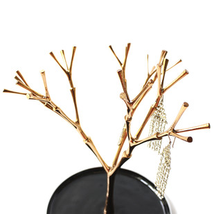 Jewel Tree- Gold by Studio ABD, Contemporary Accessories, Brass, White color