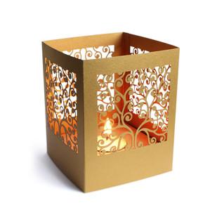 Mystery- Gold T-Light and Votive Holder By Studio ABD