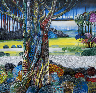 Nature landscape Digital Print by Arun K Mishra,Impressionism
