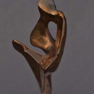 Love by Gurmeet Goldie, Art Deco Sculpture | 3D, Bronze, Gray color
