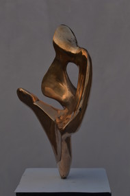 Love by Gurmeet Goldie, Art Deco Sculpture | 3D, Bronze, Gray color
