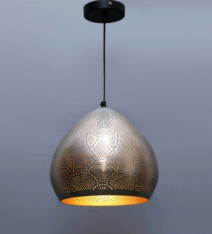 The Brighter Side Ciara by The Brighter Side, Contemporary Ceiling Lamp, Iron, Brown color