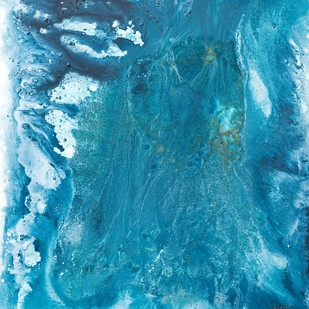 SAND & SEA SERIES - BLUE 1 Digital Print by Adil Writer,Abstract