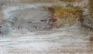 THE MIDNIGHT HOUR by Adil Writer, Abstract Painting, Acrylic on Canvas, Gray color