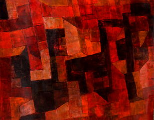 Untitled by Pradip Mazumdar, Abstract Painting, Acrylic on Paper, Brown color
